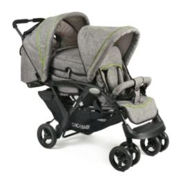 CHIC 4 BABY Geschwisterwagen DUO Jeans grey