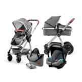 Kinderkraft Kombikinderwagen 3 in 1 Veo Grey