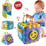 ACTRINIC Babyspielzeug-Aktivität Würfelspielzeug, 6 in 1 Mehrzweck Spielzentrum mit Musik.Bestes Geschenkspielzeug für Jungen und Mädchen Kleinkinder Kinder ab 18 Monate+ - 1