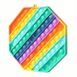 Fettinow XXL Pop It Groß Fidget Toy - Big Pop Its Jumbo Pop XXXL - Riesen Pop Fidget It Toy Rainbow - Sensorisches Fidget It Push & Pop Bubble (Regenbogen) - 1