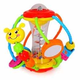 HOLA Motorikball Baby Spielzeug ab 6 Monate, Rassel Baby Greifball, Greifling, Beißring, Shake & Krabbel Motorikspielzeug Babyspielzeug ab 3, 6, 9, 12 Monaten - 1