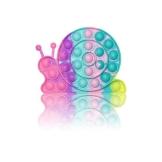 PIANETA Pop it Push it Fidget Toy, pop Bubble, endspannentes Anti Stress Spielzeug Sensorisches Spielzeug Autismus lindert Angstzustände. Für Kinder und Erwachsene (Schnecke) - 1
