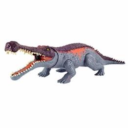 Jurassic World GVG68 - Gewaltige Beißer Sarcosuchus, größere Dinosaurier-Actionfigur mit beweglichen Gelenken und realistischen Details, für Kinder ab 4 Jahren - 1