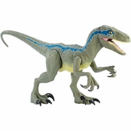 Mattel GCT93 Jurassic World Riesendino Velociraptor Blue mit beweglichen Armen und Beinen - 1