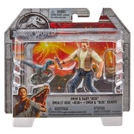 Mattel Jurassic World FMM01 - Figur Owen und Baby Blue, mehrfarbig - 1