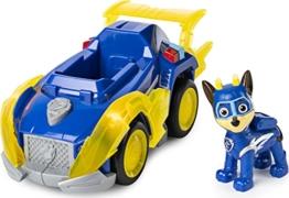 PAW Patrol Mighty Pups Super Paws, Chase' Deluxe-Fahrzeug mit Lichtern und Geräuschen - 1