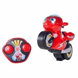 Ricky Zoom RC Turbo Trick Ricky, das Stuntmotorrad mit Fernsteuerung Macht Wheelies und atemberaubende 360-Grad Drehungen, liefert perfekte Abenteuer für Kinder im Vorschulalter und Fans der Serie! - 1
